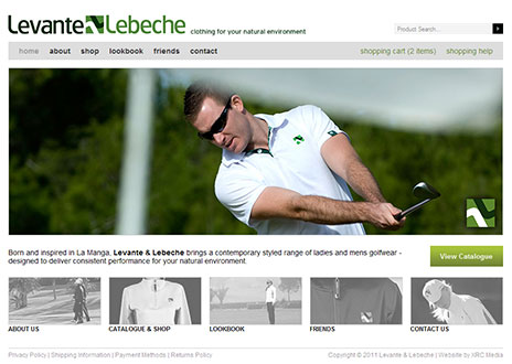 Levante & Lebeche Web Site Screenshot - Click to Enlarge