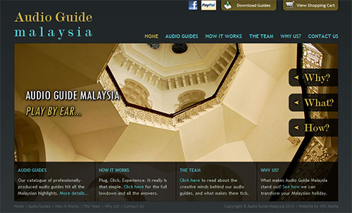 Augio Guide Malaysia Web Site Screenshot - Click to Enlarge