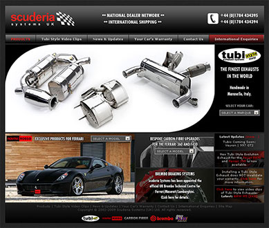 Scuderia Systems Web Site Screenshot - Click to Enlarge